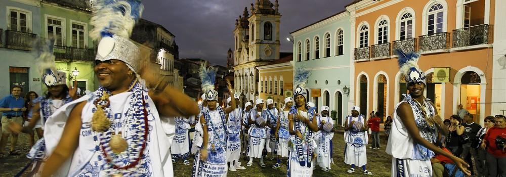 Salvador de Bahia carnival goes late into the night.