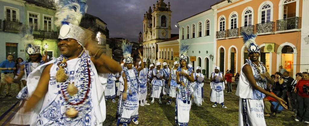 A carnival bloco in Salvador de Bahia.