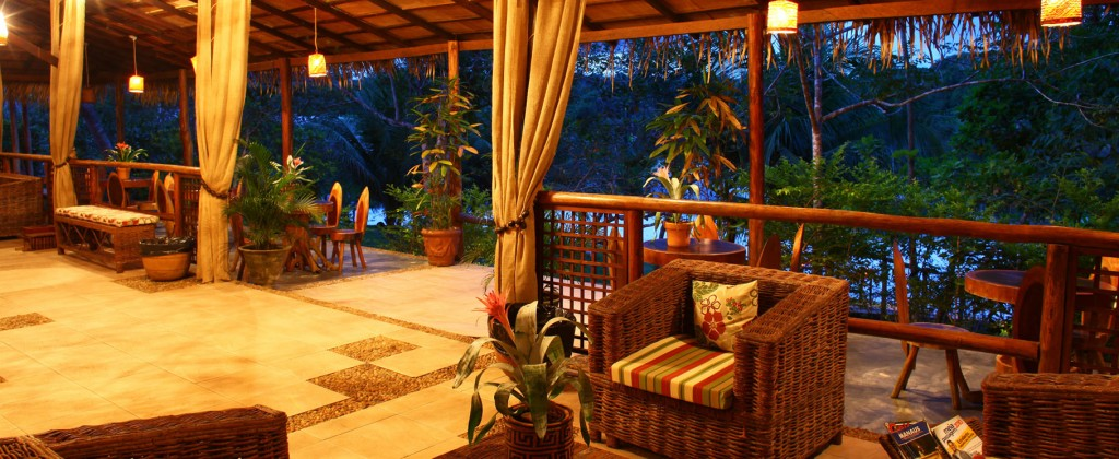 A comfortable atmosphere at the Amazon eco-lodge.
