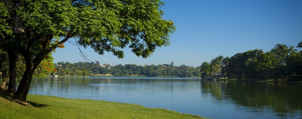 Scenic view of lake Pampulha in Belo Horizonte.