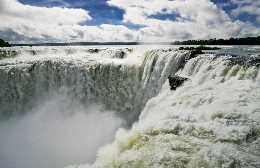 Waterfalls in Iguacu in Brazil.