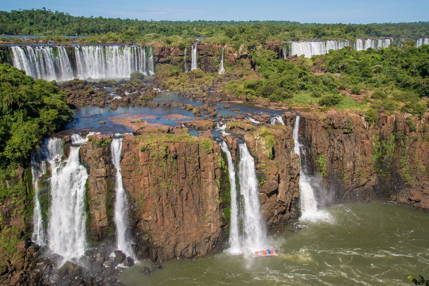The Argentine side of the Iguaçu falls.