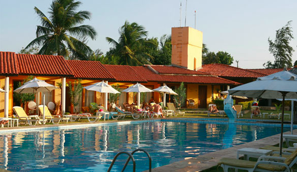 Hotel Golfinho on the beach of Cumbuco near Fortaleza.
