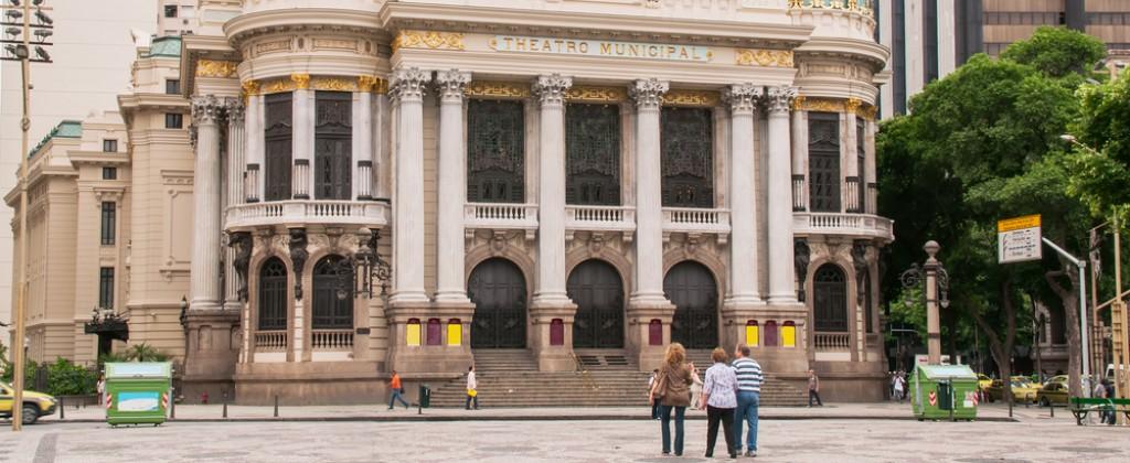The theatre in Rio de Janeiro.