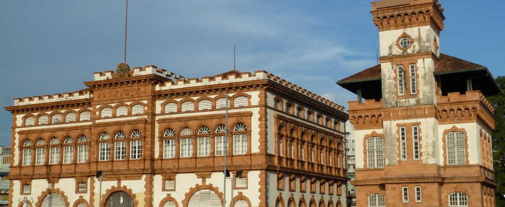 Some of the beautiful buildings of Manaus, built in the prosperous rubber era.