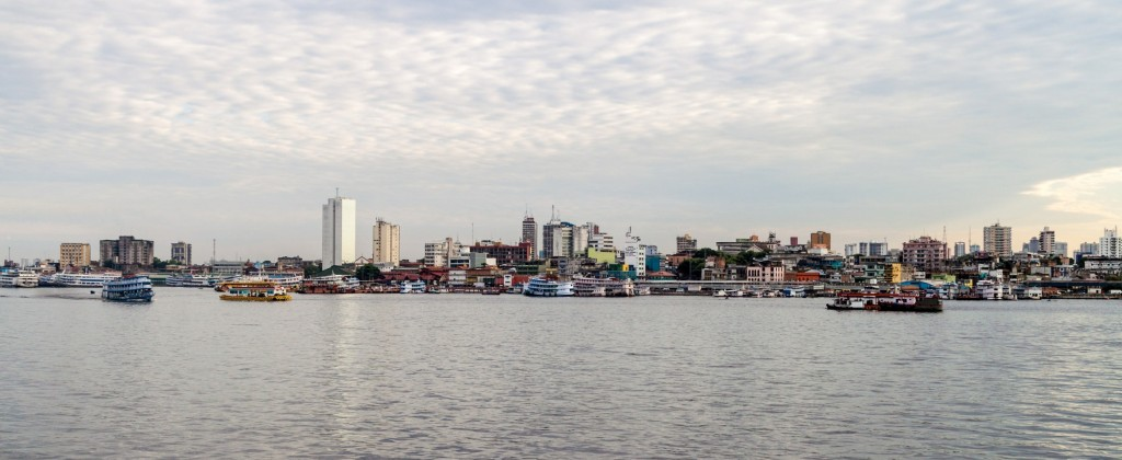 A view of Manaus from the river.