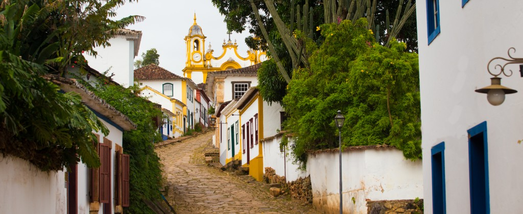 Minas Gerais, a typical colonial street in Brazil.