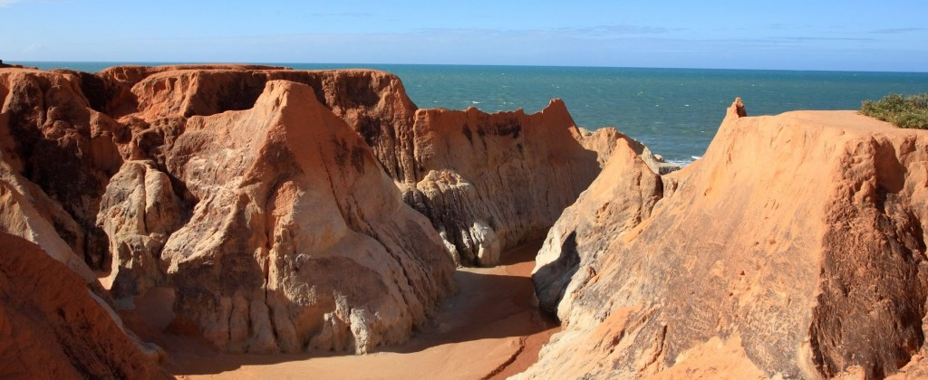 The ocher cliffs of Nordeste.