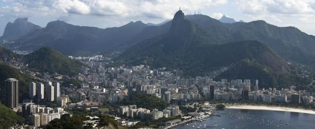 View of the bay in Rio de Janeiro.