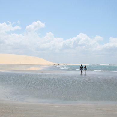 Wandering on the beaches of Jericoacoara.