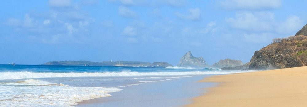 Another of the beautiful beaches of Fernando de Noronha.