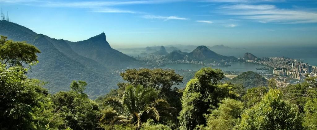 Rio de Janeiro, a beautiful view with a blue sky.