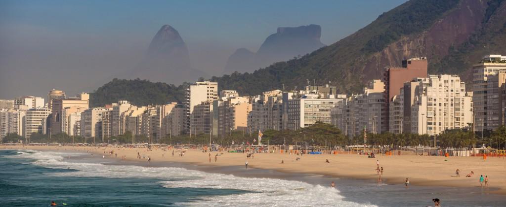 The mythical Copacabana in Rio de Janeiro.