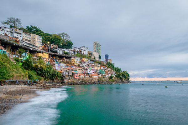 Beach in Salvador de Bahia.