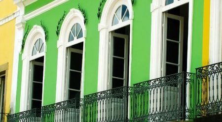 A beautiful balcony in Salvador de Bahia.