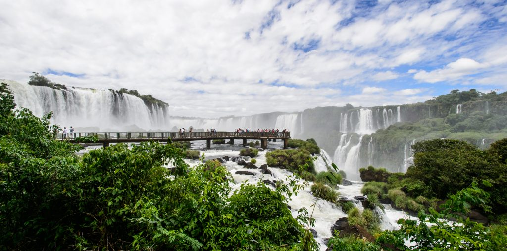 One of the walkways at Iguaçu from which you can see the falls.