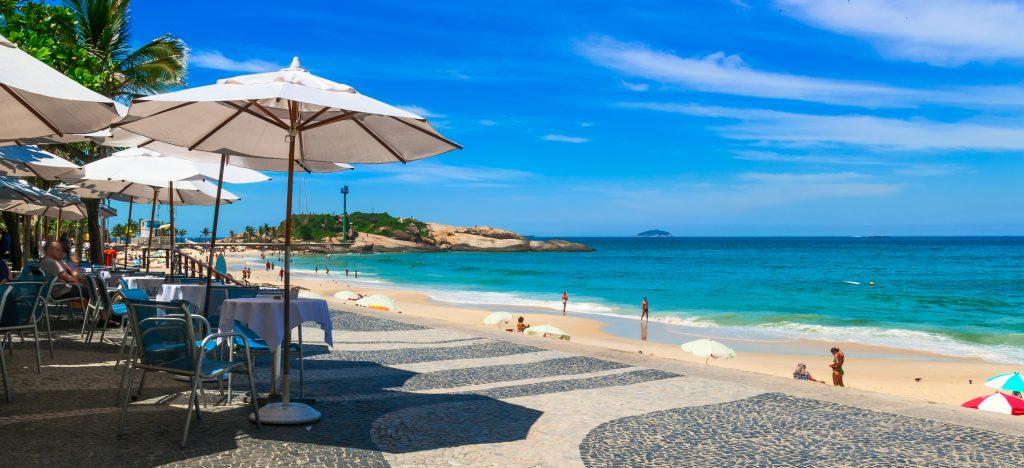 Arpoador beach in Rio de Janeiro.