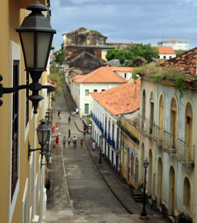 Looking down the road in São Luis.