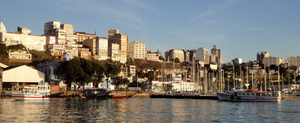 A view of Salvador de Bahia from the water.