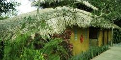 One of the bungalows of the eco-park jungle lodge.