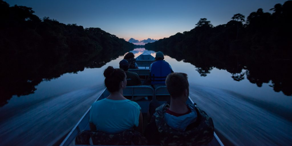 One of the nightime boat trips that you will take on the river.