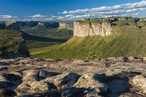 The flat-top mountain range in Chapada Diamantina.