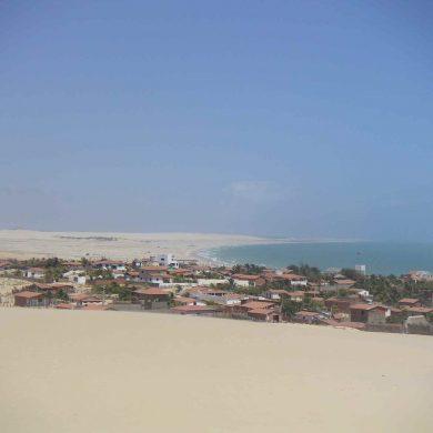 A panoramic view of Canoa Quebrada.