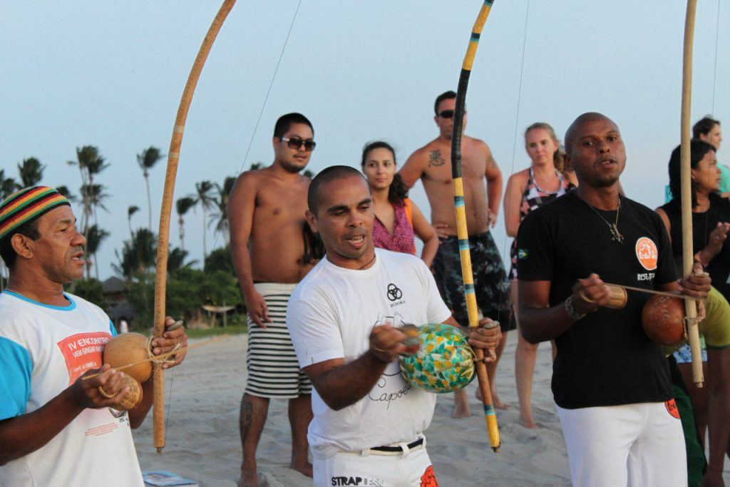 Playing Berimbau in Jericoacoara.