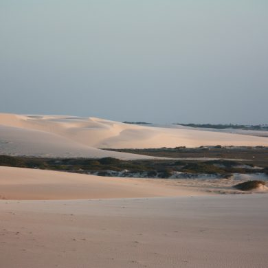 The beautiful sand dunes at Jericoacoara.