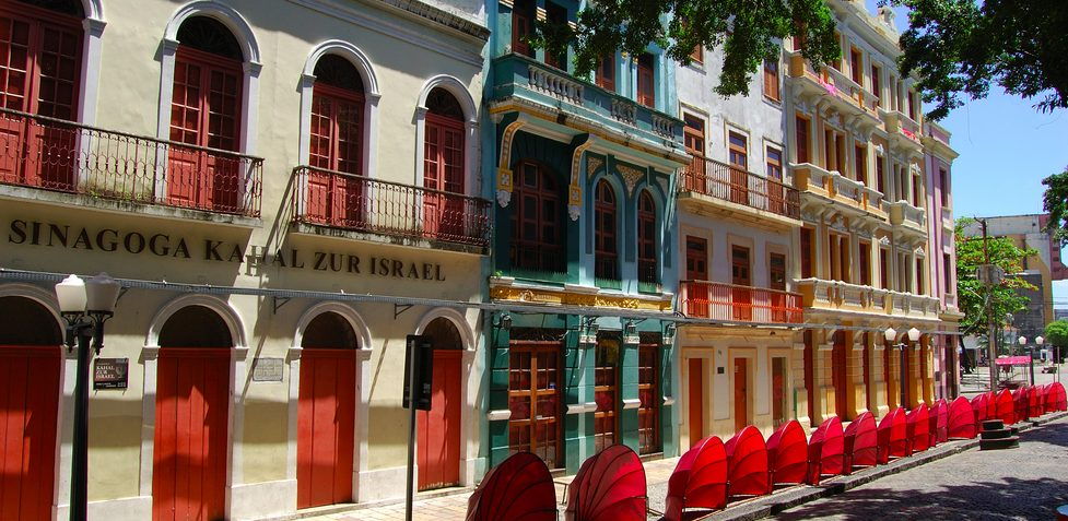 The facade of the historical center of Recife.