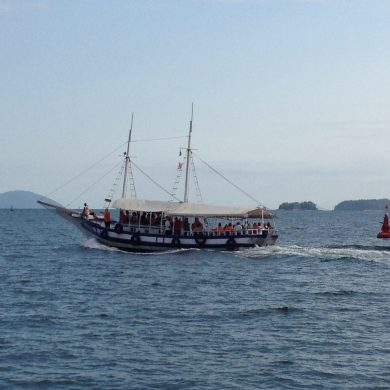One of the sailing boats that will take you to Ilha Grande.