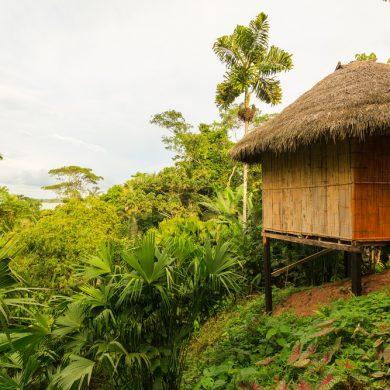 paillote de cabocloa avec vue sur le fleuve_Amazonie