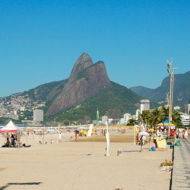 plage de Ipanema sous le soleil Rio de Janeiro