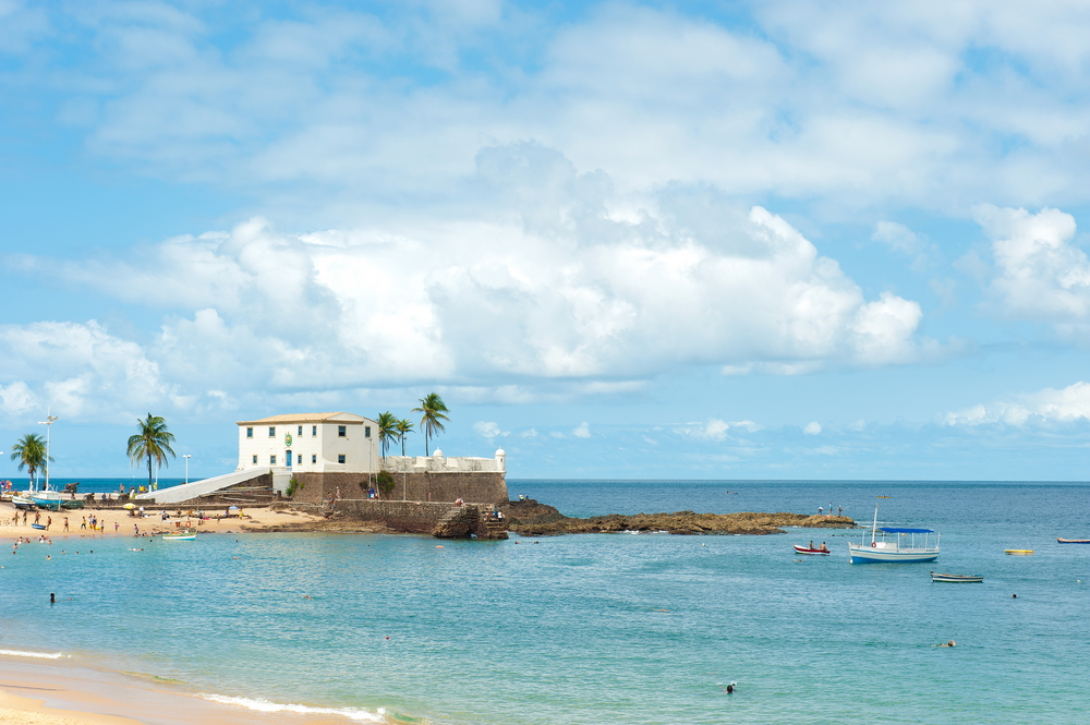 Salvador de Bahia, a city surrounded by beautiful beaches.
