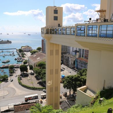 The amazing public elevator in Salvador de Bahia.
