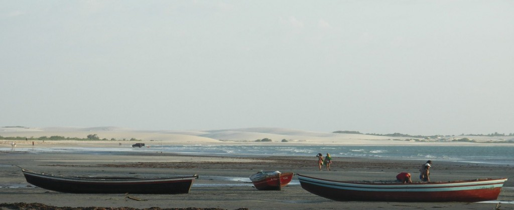 Fishing boats sitting in Jericoacoara, one of the most beautiful beaches in the world.