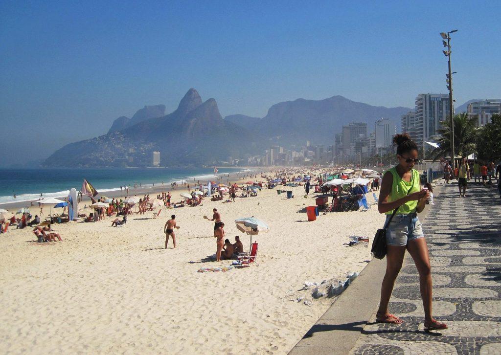Copacabana beach on a sunny day.