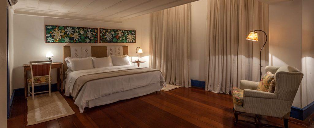 Spacious bedroom in Pousada do Rosario in Ouro Preto.