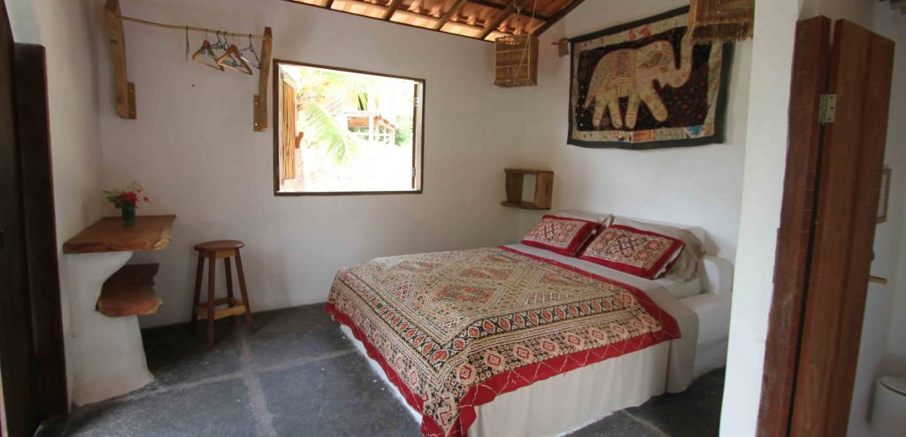 Room with a rustic charm in the pousada Maresiain Atins.