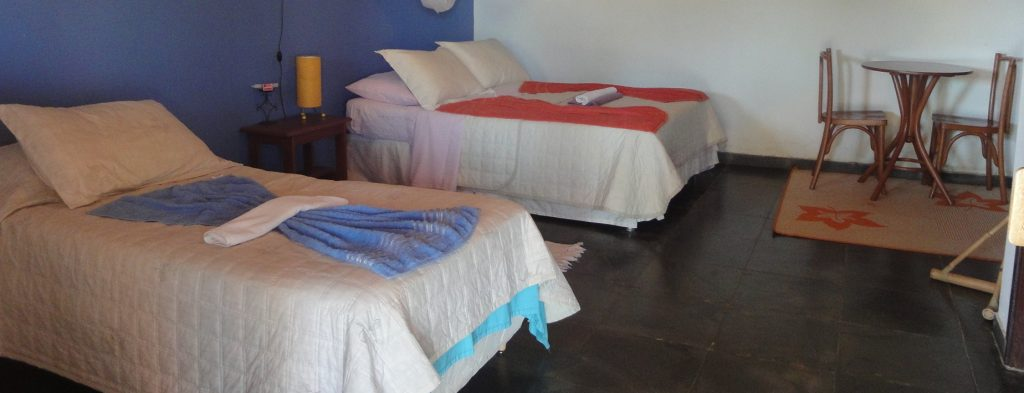 Triple bedroom in Fazenda Santa Tereza.