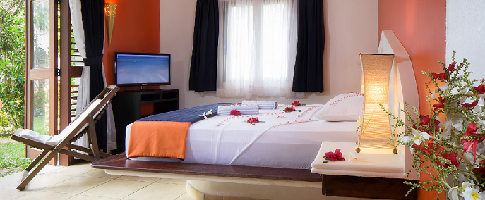 Room in the my blue hotel in Jericoacoara.