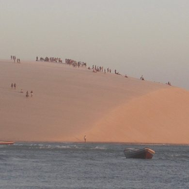Jericoacoara dunes from the lake.