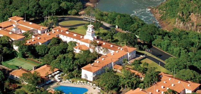 Helicopter view of Hotel Belmond das Cataratas.