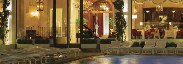 The exquisite pool at Copacabana palace.