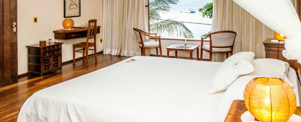 An excellent room at the pousada Sagú mini resort.