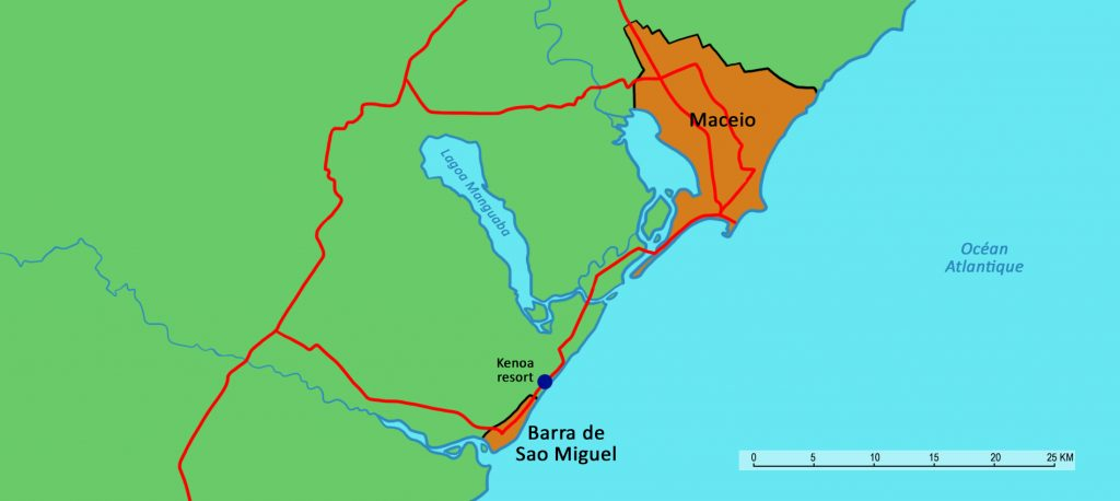 Maceió on the map.