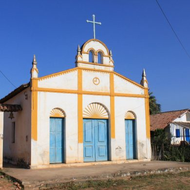 Catholic chapel in Canoa Quebrada.