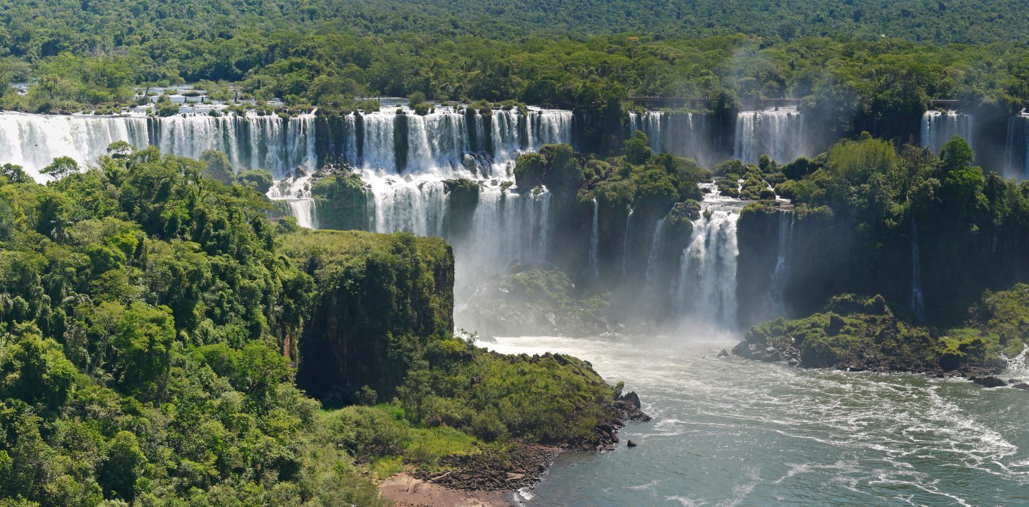 View of Iguacu falls