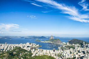 view of sunny Rio bay with sugar loaf