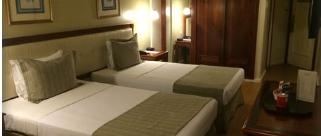 Comfortable double room in hotel Olinda in Rio.